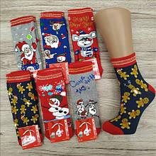Ароматизовані новорічні шкарпетки дитячі з махрою MONTEBELLO 552 бамбук Туреччина 11-розмір НГ-8