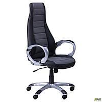Кресло Форс (СX 0678 Y10-01) Черный/вставка Серый TM AMF