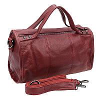 Женская кожаная сумка Borsa Leather 10t560-burgundy