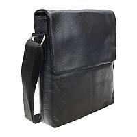 Мужской кожаный мессенджер Borsa Leather 10t8870-black