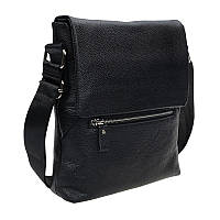 Мужская кожаная сумка Borsa Leather 10t0013-black