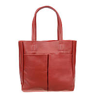 Женская кожаная сумка Borsa Leather 10t9260-red