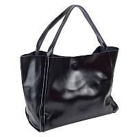Женский кожаный шоппер Borsa Leather 10251-black