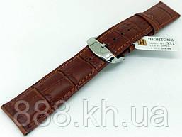 Ремешок для наручных часов кожаный Hightone HT-332 с классической застежкой, коричневый, 20x180 мм wee