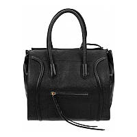 Женская сумка кожаная Borsa leather 10t222-black