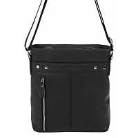 Мужская кожаная сумка Borsa Leather 1t5502m-black, фото 1