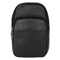 Мужской кожаный рюкзак через плечо Borsa Leather 1t1022m-black