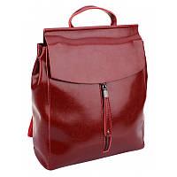 Женский кожаный рюкзак Borsa Leather 10t3206-wine
