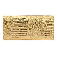 Женский кожаный кошелек Borsa Leather cdl1l003-gold
