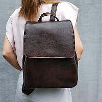 Женский рюкзак с клапаном коричневый Monsen  10Ko1113-brown, фото 1