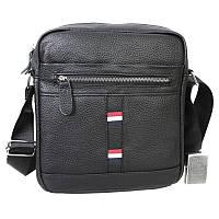 Мужская сумка с плечевым ремнем Borsa Leather 10m8215-black, фото 1