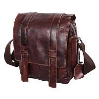 Мужская кожаная коричневая сумка Borsa Leather 101540-brown, фото 1