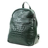 Женский кожаный рюкзак зеленого цвета Borsa Leather sol10t5861-green