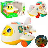 Самолетик с двумя режимами обучающий и музыкальный - игрушка самолетик для детей от 1 года
