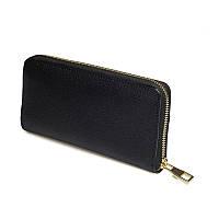 Женский кожаный кошелек черного цвета Ricco Grande 17116-t-black