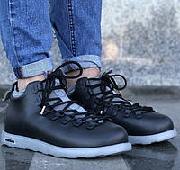 Зимние мужские ботинки Native Fitzsimmons black/grey 41-45рр. Живое фото (Реплика ААА+)