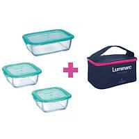 Набор контейнеров с сумкой Luminarc Keep'n Box 2х380 мл, 820 мл P8001