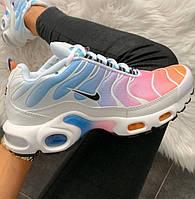 "Женские кроссовки Nike Air Max Tn+ plus ""Multicolor"" 36-40рр. Живое фото. Реплика"