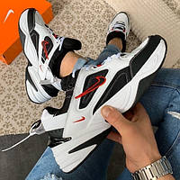 Женские кроссовки Nike Air Monarch White/Black белые с черным 36-45р. Живое фото (Топ реплика ААА+), фото 1