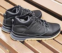 Зимние мужские кроссовки New Balance черные кожаные с мехом 41-46р. Живое фото, фото 1