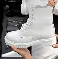 Женские зимние ботинки Dr. Martens 1460 White белые без меха 36-41рр. Реальное фото. Топ реплика