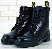 Женские зимние ботинки Dr. Martens 1460 Black Mono без меха 36-40рр. Реальное фото. Топ реплика, фото 1