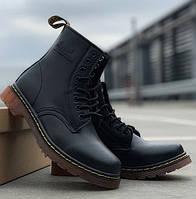 Женские зимние ботинки Dr. Martens 1460 черные без меха 30-40рр. Реальное фото. Топ реплика