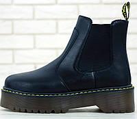 Женские зимние ботинки Dr. Martens Platform Chelsea black без меха 36-40рр. Реальное фото. Топ реплика