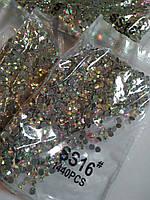 Опт. Стразы премиум Best термоклеевые, Crystal AB ss16 (3,80 мм), 10 уп /14400 шт, фото 1