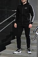 Костюм зимний мужской Adidas утепленный черный. Живое фото, фото 1