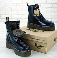 Женские зимние ботинки Dr. Martens Platform JADON black с мехом 36-40рр. Реальное фото. Топ реплика, фото 1
