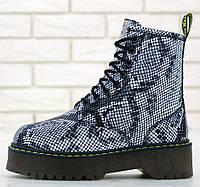 Женские зимние ботинки Dr. Martens Platform JADON Boot Light Grey Asciano 36-40рр. Реальное фото. Топ реплика, фото 1
