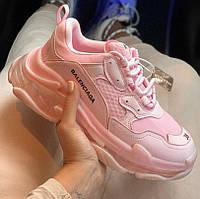 Женские кроссовки Balenciaga Triple S Rose pink 36-40рр. Живое фото (Реплика ААА+), фото 1