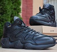 Зимние мужские кроссовки Adidas Equipment FYW S-97 черные 41-46рр. Живое фото. Реплика