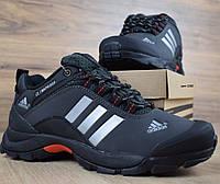 Зимние мужские кроссовки Adidas Climaproof низкие черные с серым 41-46рр. Живое фото. Реплика