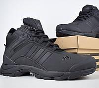 Зимние мужские кроссовки Adidas Climaproof высокие чёрные 41-46рр. Живое фото. Реплика