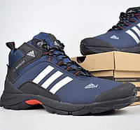Зимние мужские кроссовки Adidas Climaproof высокие синие 41-46рр. Живое фото. Реплика