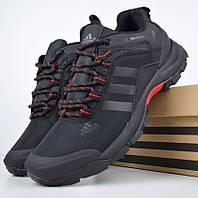 Зимние мужские кроссовки Adidas Climaproof низкие черные с красным 41-46рр. Живое фото. Реплика