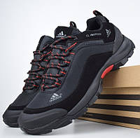 Зимние мужские кроссовки Adidas Climaproof черные с красным (без полосок) 41-46рр. Живое фото. Реплика