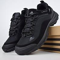Зимние мужские кроссовки Adidas Climaproof черные (без полосок) 41-46рр. Живое фото. Реплика
