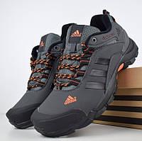 Теплые мужские кроссовки Adidas Climaproof серые с оранжевым 41-45рр. Живое фото. Реплика
