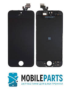 Дисплей для телефона iPhone 5 с сенсорным стеклом (Черный) Оригинал