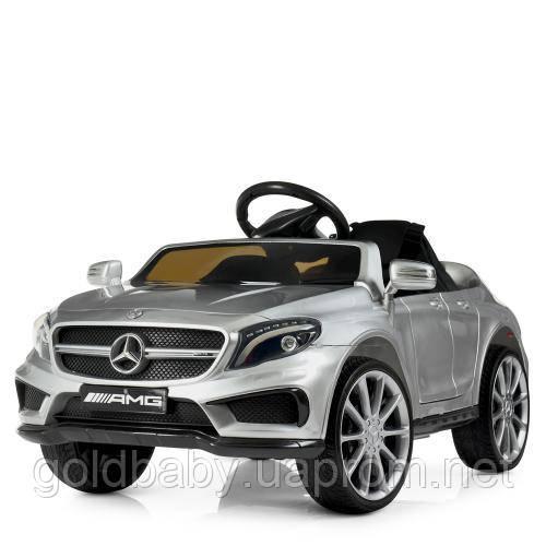 Детский электромобиль Mercedes-Benz M 3995EBLRS-11, кожаное сиденье, серебристый , фото 1
