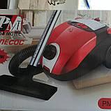 Пылесос Promotec PM 653 мешковый 2000W 1.5л, фото 3