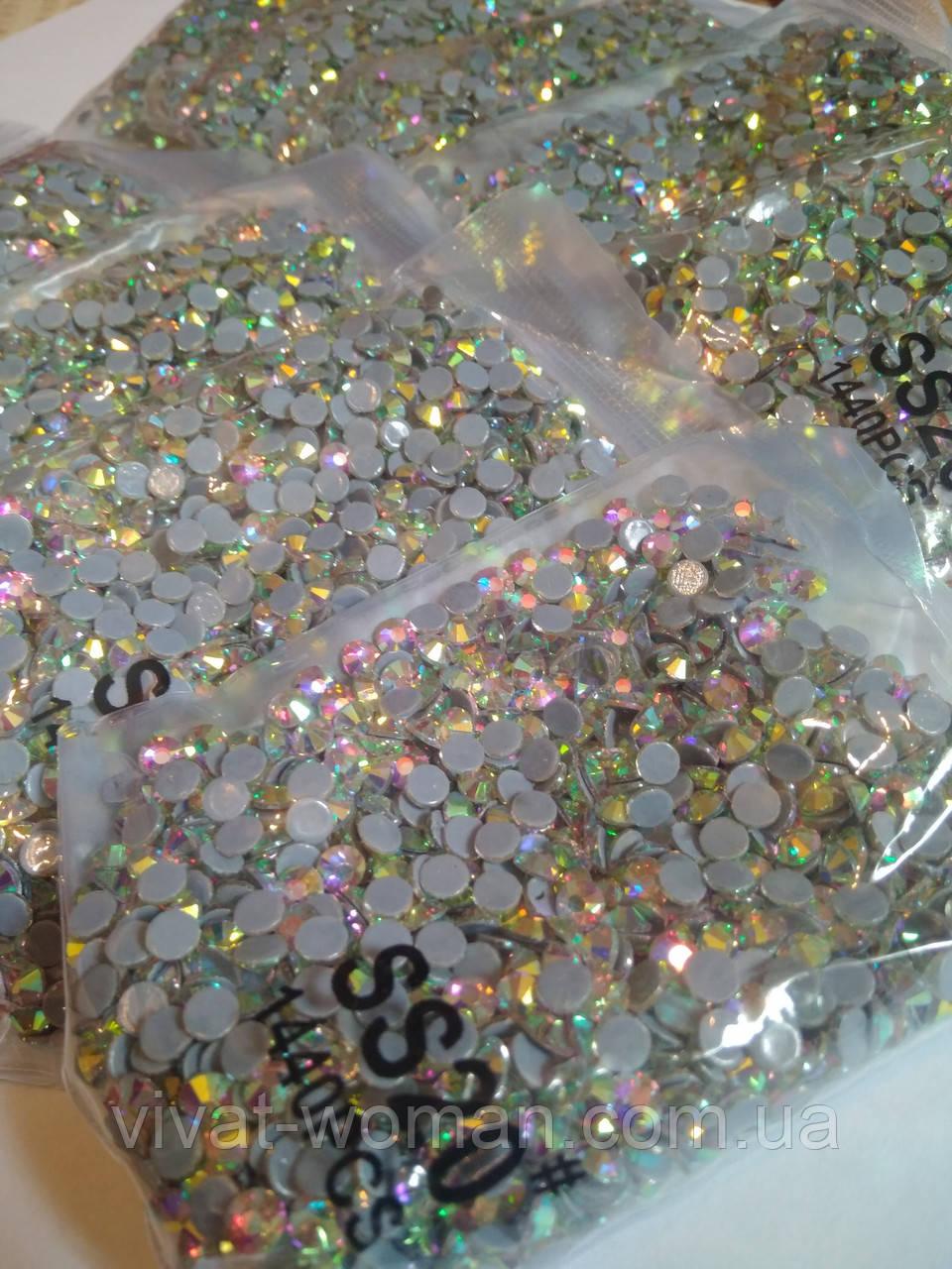 Опт. Стразы премиум Best термоклеевые, Crystal AB ss20 (4,80 мм), 10 уп /14400 шт