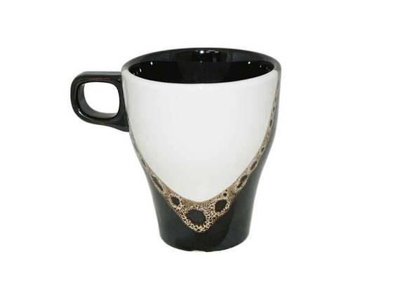 """Чашка Грация 250 мл Капля черно-белая упаковка 6 шт """"Полигенько"""", фото 2"""