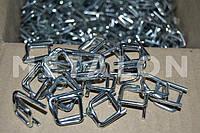 Пряжка № 19 оцинкованная (1000 шт), проволочная упаковочная для ПП и ПЭТ лент