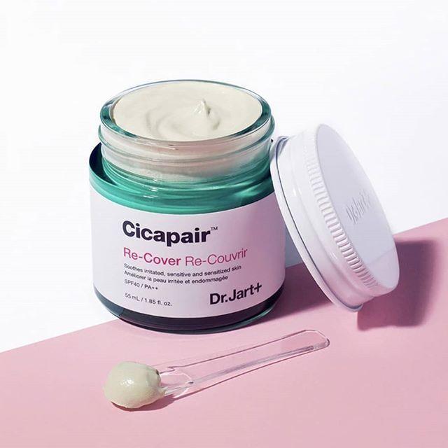 Дневной регенерирующий крем, корректирующий тон / New 2019 / Dr.Jart+ Cicapair Re-Cover SPF40/PA++ 55ml