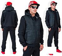 Зимний мужской костюм тройка, разные расцветки с 46-56 размер, фото 1
