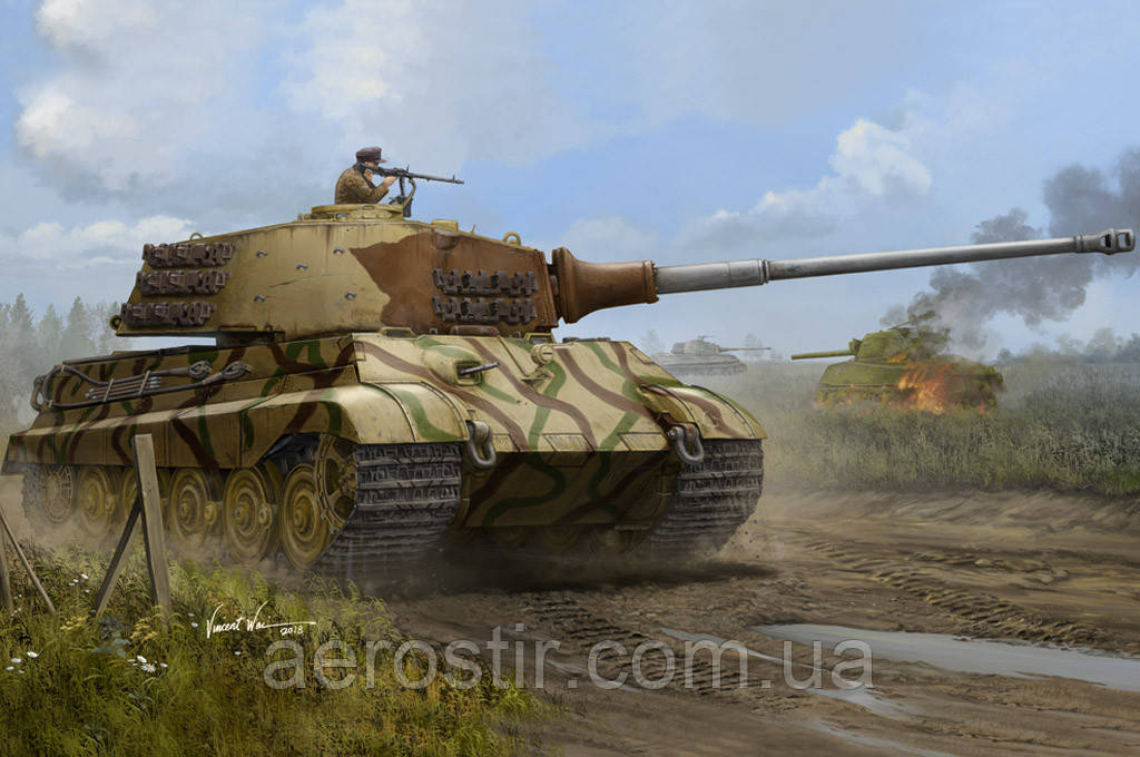 Pz.Kpfw.VI Sd.Kfz.182 Tiger II (Henschel July-1945 Production) 1/35 Hobby Boss 84533